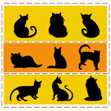 Cats silhouettes Stock Photo