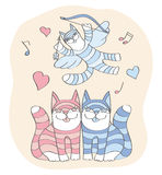 Cats St Valentine's Day Royalty Free Stock Photo