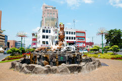 Cats Statue in Kuching, Borneo (Malaysia) Stock Images