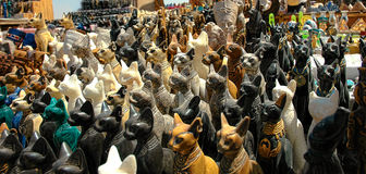 Cats Statues of the goddess Bastet. Royalty Free Stock Image