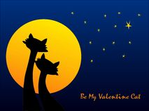 Cats' Valentine, cdr vector Royalty Free Stock Photography
