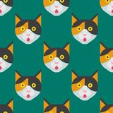 Cats vector illustration cute animal seamless pattern funny decorative kitty. Cats vector illustration cute animal funny decorative characters color abstract Stock Photos