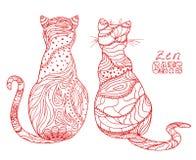 Cats. Zen art Stock Photo