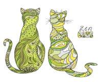 Cats. Zen art Stock Images