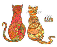 Cats. Zen art Royalty Free Stock Photo