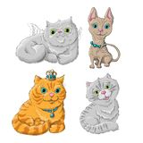 Catset. Illustration of a cute cats set Stock Photo