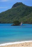 Catseye Beach. On Hamilton Island in the Whitsundays, Australia Royalty Free Stock Image