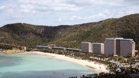 Catseye beach on Hamilton Island. In the Whitsundays, Queensland Australia stock photo