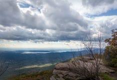 Catskill Mountain View och Ashokan behållare royaltyfri fotografi