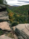 Catskill Mountains - Peak. Watching the fall foliage at the peak of the Catskill Mountains stock images