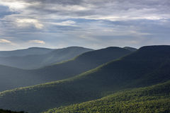 Catskill Mountains in Summer. Westerly view of the Catskill Mountains from Overlook Mountain in New York State Stock Photo