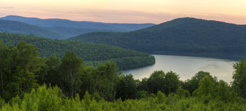 Catskills Soft Reservoir Sunset Stock Photography