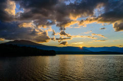 Catskills Sunset. New York is more than just a city. Just 100 miles north of the big city lie the Catskills Mountains and this sunset features them and the Royalty Free Stock Photography