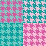 catstooth ροζ προτύπων μεντών Στοκ εικόνες με δικαίωμα ελεύθερης χρήσης