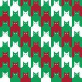 CatsTooth bożych narodzeń wzór Zdjęcie Stock