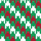 CatsTooth Christmas Pattern Stock Photo
