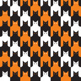 Catstooth Halloween Pattern Royalty Free Stock Photography