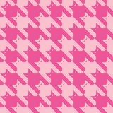 CatsTooth-Muster im Rosa Stockbild