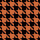 CatsTooth Pattern_Orange-Black Imagens de Stock Royalty Free
