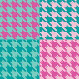 CatsTooth Pattern_Pink-Mint Imagens de Stock Royalty Free