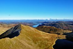Catstye Cam from the summit of Helvellyn Royalty Free Stock Photography