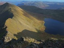 Catstyecam and Red Tarn. Seen from from Helvellyn Royalty Free Stock Photo