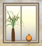 Cattails with Vase Royalty Free Stock Photo