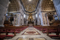 Cattedral of St.Peter in St.Peter's Basilica, Vatican City. Rome Royalty Free Stock Photography