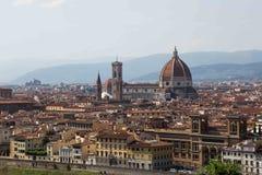 Cattedrale二圣玛丽亚从Piazzale米开朗基罗的del菲奥雷 免版税库存图片
