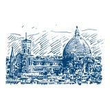 Cattedrale二圣玛丽亚del菲奥雷在佛罗伦萨,意大利 皇族释放例证