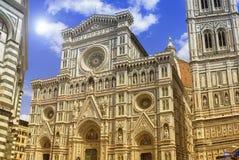 Cattedrale二圣玛丽亚del菲奥雷或Il中央寺院二佛罗伦萨,意大利 免版税库存图片