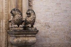 Cattedrale二孔韦尔萨诺,普利亚,意大利 免版税图库摄影