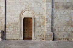 Cattedrale二孔韦尔萨诺,普利亚,意大利 库存图片