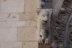 Cattedrale二孔韦尔萨诺,普利亚,意大利 免版税库存图片