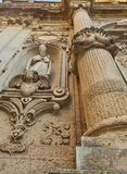 Cattedrale二莱切圣玛丽亚Assunta大教堂  普利亚,意大利 免版税库存图片
