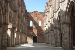 Cattedrale abbandonata di San Galgano Fotografia Stock Libera da Diritti