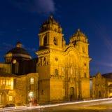 Cattedrale alla notte Fotografie Stock Libere da Diritti