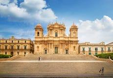 Cattedrale barrocco di Noto, Sicilia, Italia Fotografie Stock Libere da Diritti