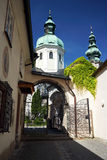 Cattedrale barrocco di Salisburgo Fotografie Stock Libere da Diritti