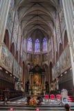 Cattedrale Belgio di Bruges Fotografia Stock Libera da Diritti