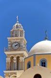 Cattedrale cattolica 02 di Fira Immagini Stock