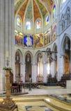 Cattedrale cattolica del vergine di Almudena Immagini Stock