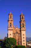 Cattedrale cattolica di Taxco Immagini Stock