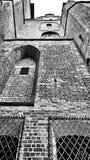 Cattedrale cattolica Sguardo artistico in bianco e nero Fotografia Stock