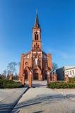 Cattedrale cattolica sulla città di Pastavy Fotografie Stock