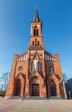 Cattedrale cattolica sulla città di Pastavy Fotografia Stock Libera da Diritti