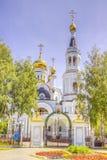 Cattedrale Ceboksary Russia di Pokrovskoe-Tatianinsky Fotografia Stock Libera da Diritti