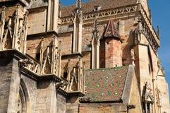 Cattedrale, Colmar l'Alsazia Fotografia Stock Libera da Diritti