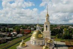 Cattedrale con la torretta di segnalatore acustico Fotografia Stock