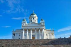 Cattedrale con le scale, Finlandia di Helsinki Immagini Stock